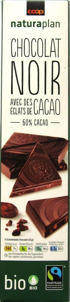 Coop Naturaplan Bio Dunkle Schokolade mit Kakaosplittern