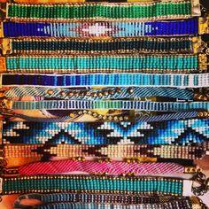 $10-$20 on etsy- seed bead loom bracelets Www.etsy.com/shop/thistleandthatch