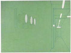 Luca Pancrazzi (Italian, b. 1961), Interno di passaggio, 2000. Acrylic on canvas, 150 x 201 cm.