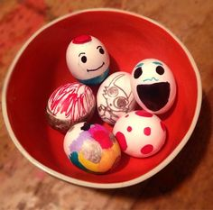 In the ghost house: sharpie eggs