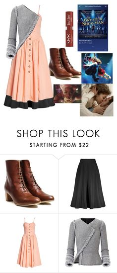 """""""I somehow manage to put The Greatest Showman in everything I do."""" by rewrite-the-stars ❤ liked on Polyvore featuring Free People, Roland Mouret and NYX"""