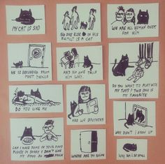 my cat is sad. Catalina Bu, Sad Cat, We Are All Human, My Favorite Things, Comics, Cats, Illustration, Animals, Frases
