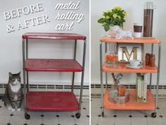 So happy with my kitchen cart facelift! I was hesitant on the color at first, but haven't regretted it for a moment since. So perfect!