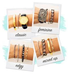 4 simple ways to mix and match your wristwear #bracelets #armparty