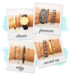 Style 101: bracelet stack #jewelryinspiration