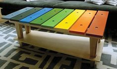 I so want to build this for my classroom... how fun would it be to store instruments on an instrument table?