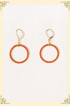 orange earrings, OSU game day