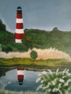 Assateague in acrylic 11x14 stretched canvas $75
