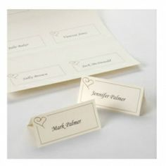 £4.99 Print at Home Gold Heart Place Cards