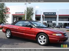 My third Convertible was a 2000 Chrysler Sebring...in what else but red...