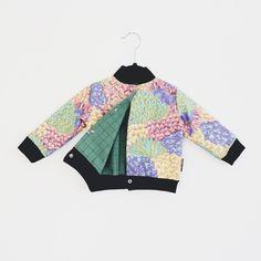 MINIBOM reversible bomber jacket. Recycled and organic cotton. Handmade.