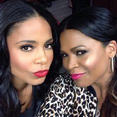 Sanaa Lathan and Nia Long slaying for their life with stunning skin and makeup