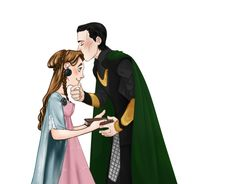loki-and-sigyn-only-fanart: Wohhhhh Guys!!!! This is a collaboration with the amazing kind beautiful artist Nanihoo!! (*°W°*) I did young Sigyn and she did young Loki !!! awwwww so nice!!! what do you think?