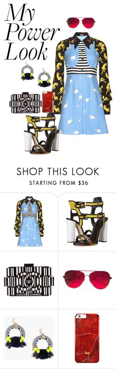 """""""Power"""" by prettt on Polyvore featuring Miu Miu, Dsquared2, Chanel, Valentino and J.Crew"""