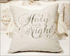 Holy Night Drop Cloth Pillow