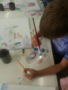 Taller de Dibuix i Pintura durant el curset de juliol 2015/16. www.escolatrac.com