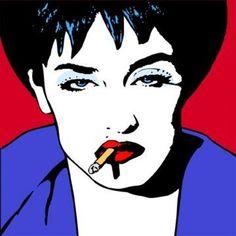 Madonna smoking cigarette pop art