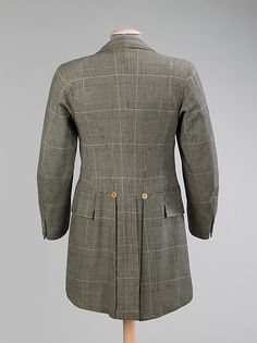 Suit 1894 wool. notice the low waistline. met museum