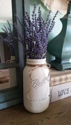 Lavender mason jar table decor – Stacy Turner Creations