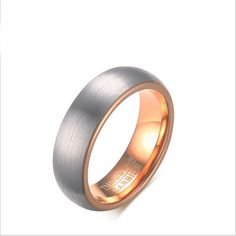 Fashion Simple Brushed Band Size 7-12 Tungsten Steel Men's Wedding Rings Gift