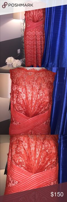 NWT Tadashi Shoji Peppermint Lace 2017 Collection This is part of Tadashi's 2017 Peppermint Lace Collection and is absolutely delicate, stunning and slimming and will definitely make you feel like a million bucks no matter what event you chose to wear this stunner to!  NWT!!!!! Tadashi Shoji Dresses Midi