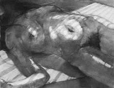 2014/charcoal drawing/monochrome/figure/the body/woman/nude