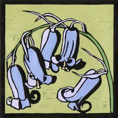 Image result for bluebell.lino print