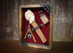 Monster Emergency Kit: Frankenstein's Monster by DaydreamHunter #halloween #etsy #frankenstein #monster #decor #daydreamhuntercreations