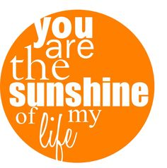 Free you are the sunshine of my life label