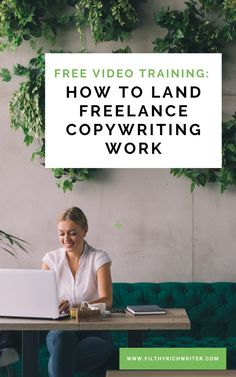 Free Copywriting Training: Learn How to Land Plenty of Freelance Copywriting Earn Money From Home, Earn Money Online, Online Jobs, Way To Make Money, Quick Money, Extra Money, Work From Home Opportunities, Work From Home Jobs, Business Opportunities