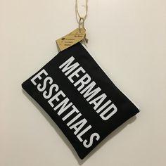 Black Mermaid Essentials Makeup Bag/ Cosmetic Bag/ Toiletry