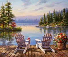 Sitting area on the dock.