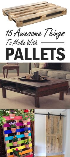 Great collection of pallet projects that are fun and unique!