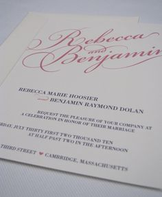 Pink and Silver/Gray invitation