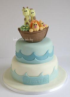 Noah's arc christening cake Baby Cakes, Baby Shower Cakes, Christening Cake Designs, Christening Cake Boy, Cupcakes, Cupcake Cakes, Dedication Cake, Noahs Ark Cake, Novelty Cakes
