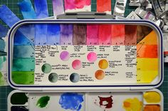 Setting up a new watercolor palette | I made a video about s… | Flickr