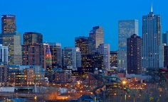 The Downtown Denver skyline lights up at night. (From: Photos: Great Memorial Day Getaways)