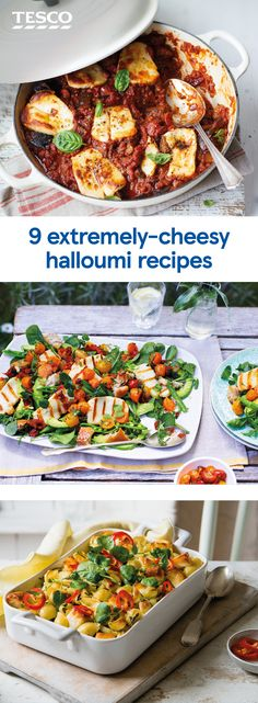 Go head-over-heels for halloumi with these cheesy recipes that make halloumi the star. From pasta bakes to vibrant salads and even halloumi fries, these recipes are a must for any cheese-lover. | Tesco