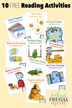 Come and get these 10 free reading activities for your children to enjoy! :: todaysfrugalmom.com