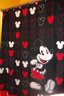 My Mickey Mouse Bathroom | Tips From The Disney Divas And Devos · Mickey  Mouse Shower CurtainMickey ...