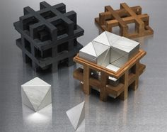 Charles O. Perry - Cube Chess Set