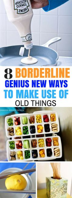 8 Genius New Ways To Use Old Things - The perfect way to upcycle old things and use them in a helpful and awesome way.