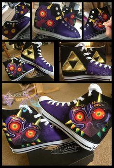 Custom Salut dessus peint Mask chaussures de Majora de par Aurasoft