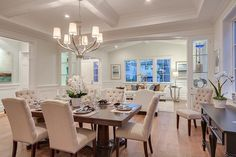 Traditional Dining Room with Box ceiling, Somerset Hardwood Flooring Wide Plank Engineered 7 Inch Red Oak, Hardwood floors
