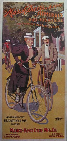 Vintage Bicycle Posters: March Davis Cycle Mfg Co, via Flickr.