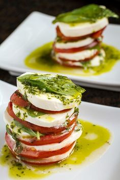 Grilled Caprese salad with basil vinaigrette from Another Pint Please ...