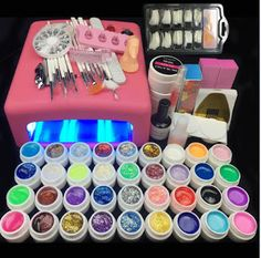 Burano 36W UV Lamp & 36 Colors UV Gel Nail polish Art Tools polish nail Set Kit building gel manicure set a seto of tools (32696708661)  SEE MORE  #SuperDeals
