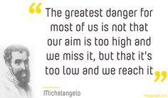 Great Michelangelo quote