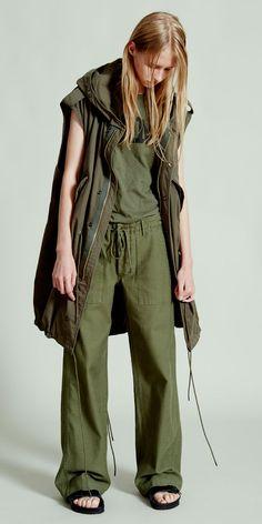 NLST l Army T and Wide-Leg Drawstring Utility Pant #NLST #SS15 #womenswear nlst-usa.com