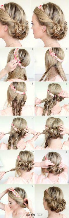 Cet été, vous n'aurez besoin que de votre headband et de votre foulard pour des coiffures réussies !
